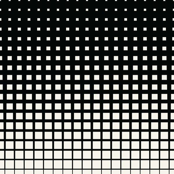 motif demi-teinte blanc black art