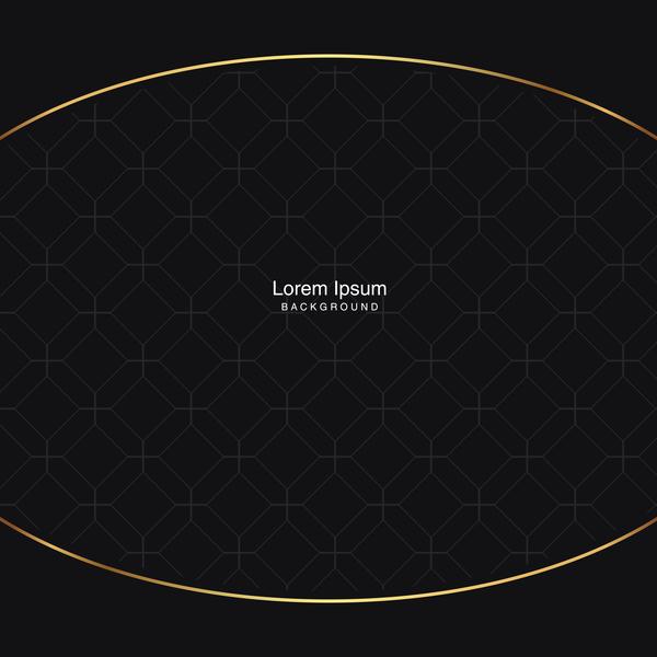 Schwarz nahtlose Muster gold