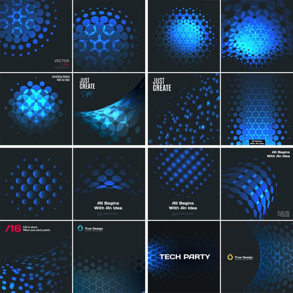 tech Nero blu