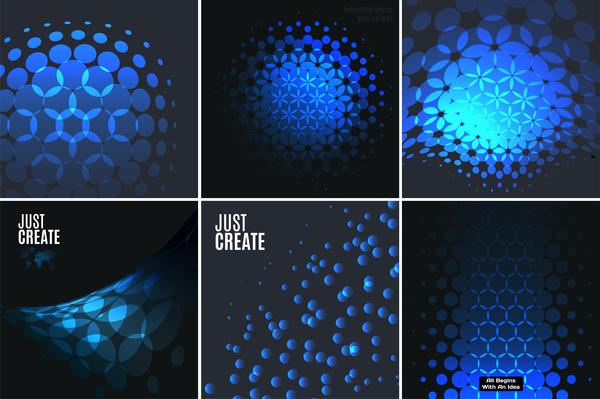 tech Svart blå