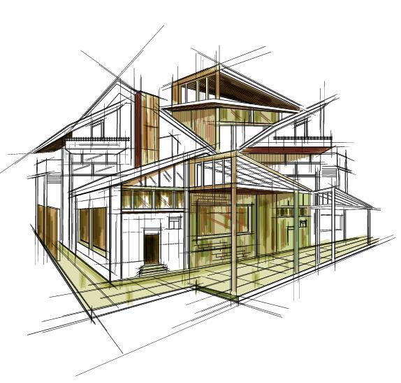 Building draft blueprint sketch vector material 13 welovesolo sketch draft building blueprint malvernweather Gallery