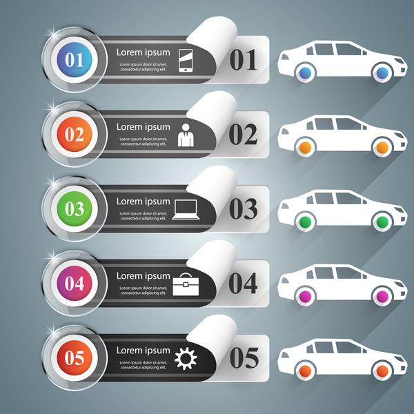、車、色、インフォ グラフィック