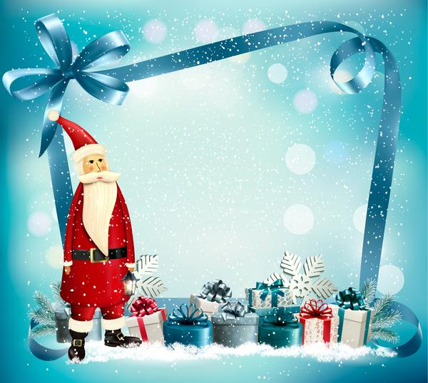 Weihnachten Urlaub santa präsentiert