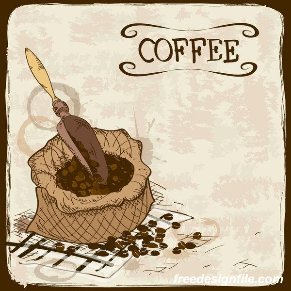 Retro-Schriftart poster kaffee hand
