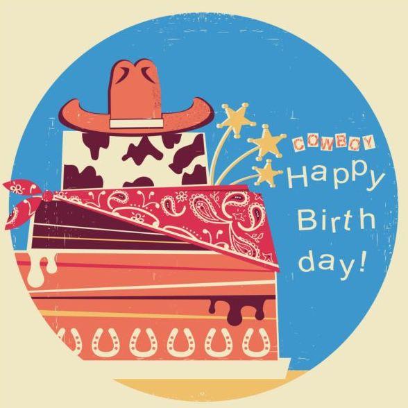 felice cowboy Compleanno