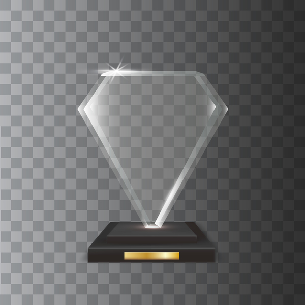 trophy Glas form Diamant award akryl