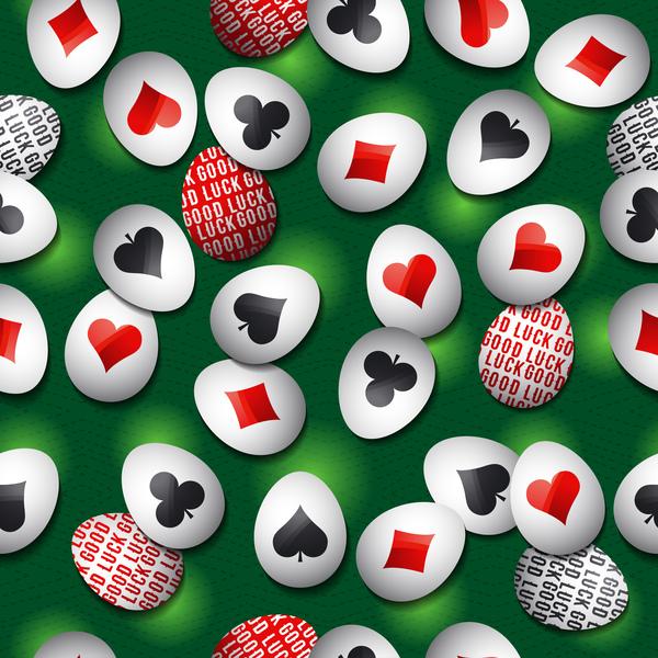 Zeichen poker Ostern Muster Ei