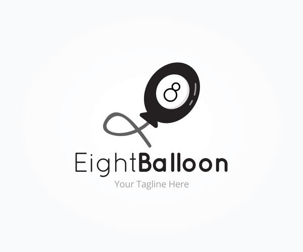 logotyp ballong åtta