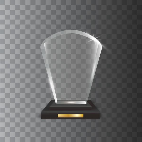 transparent Glas fächerförmige Acryl