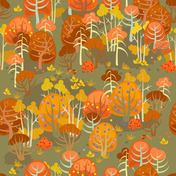 senza giunte reticolo bosco autunno
