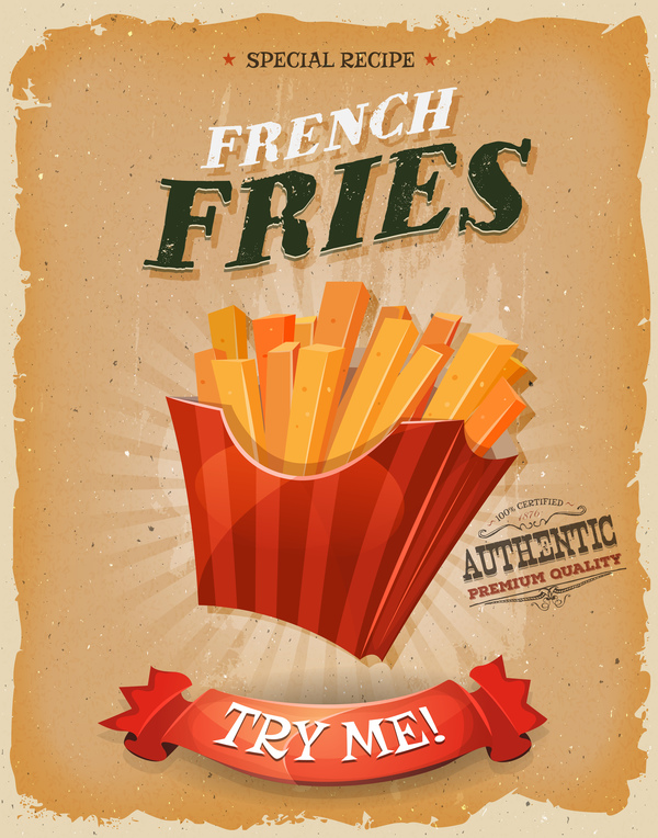 poster fries French flyer
