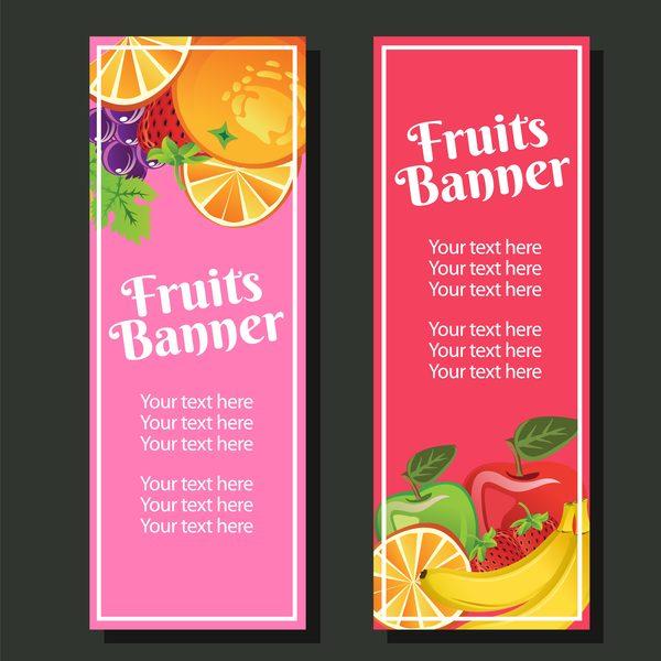 vertikale Banner vertikale Obst