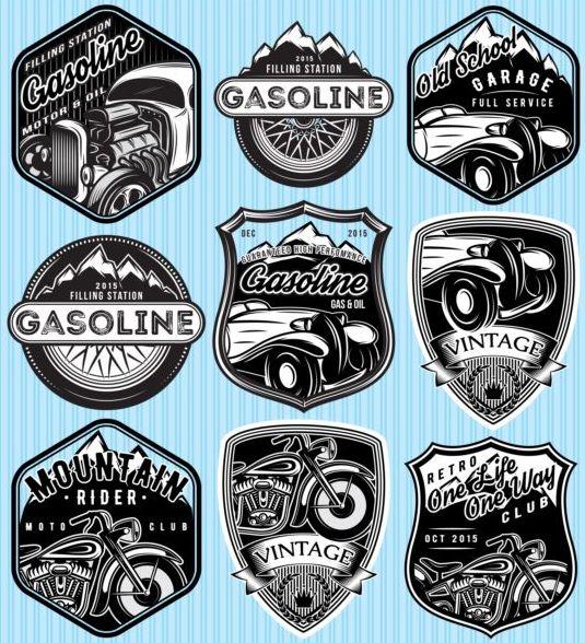 vintage rider montagne étiquettes essence