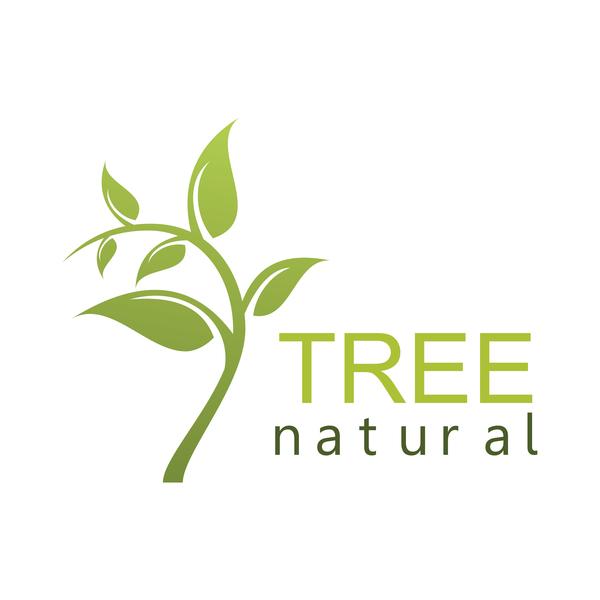 träd Naturlig logotyp grön