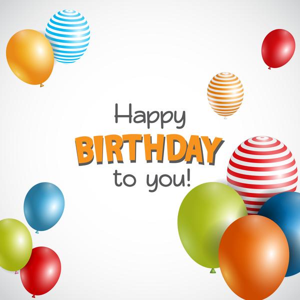 、風船、誕生日、色、ハッピー カード