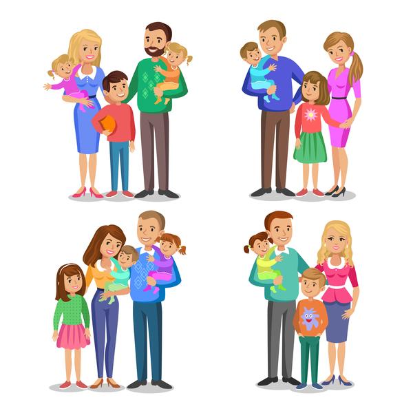 fumetto felice famiglia