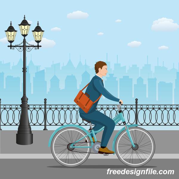 Straßen Stadt lifestyle gesund Fahrrad