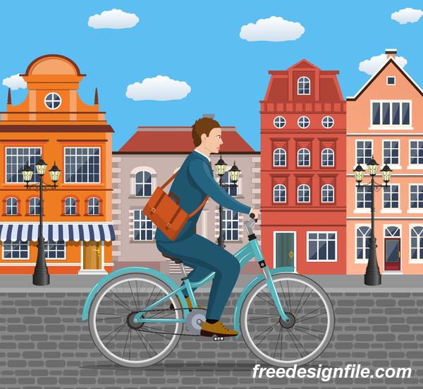 Ville vélos rues lifestyle Healthy