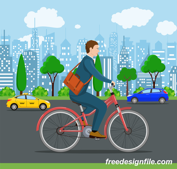 streets lifestyle Healthy city bicycle