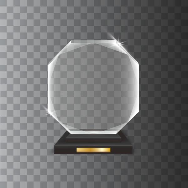 trophy hexagon Glas award akryl