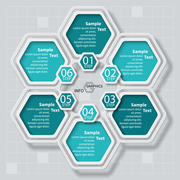 infographic hexagon alternativ