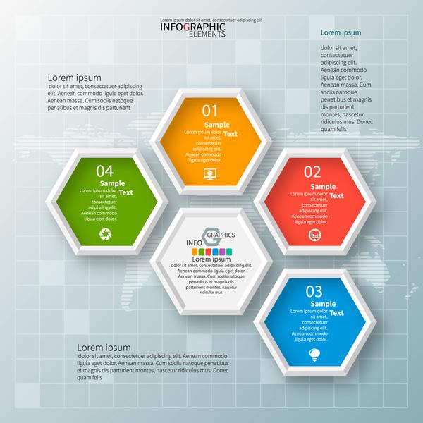 infographic hexagon alternativ