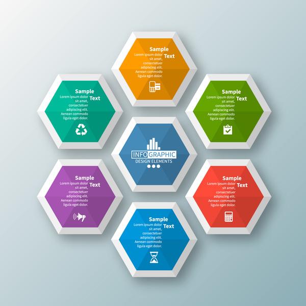 Sechseck Option Infografik