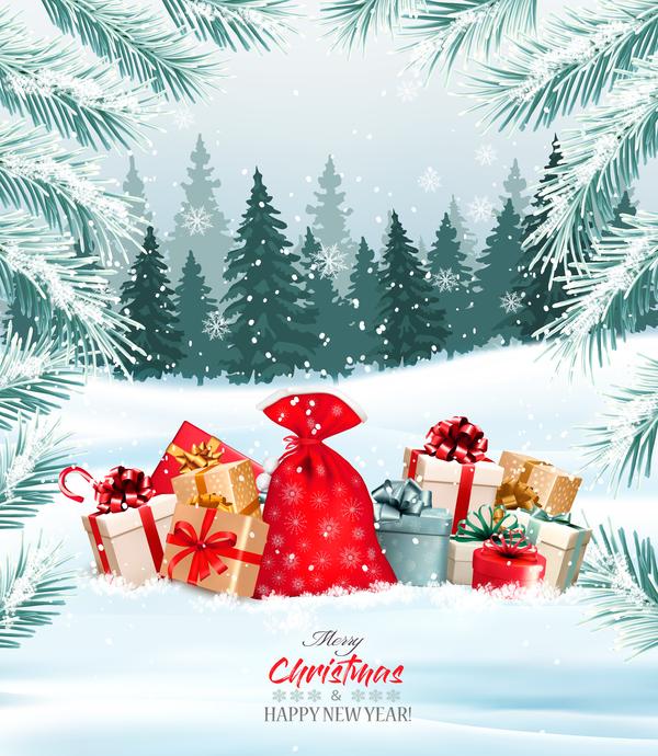 träd semester presenterar jul Gren