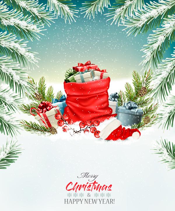Weihnachten Urlaub sack rot Geschenk fulll Boxen