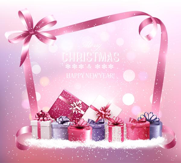 Weihnachten Rosa Geschenk-Boxen Boxen