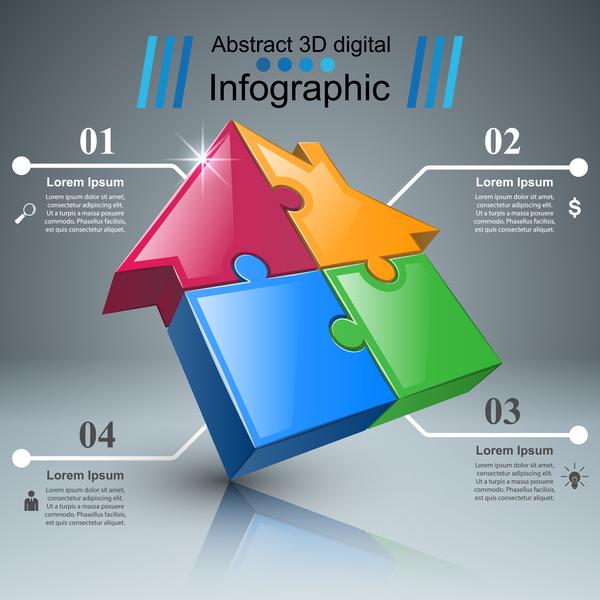 linea infographic Casa