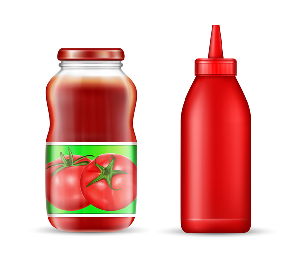 ketchup bouteille Bocal