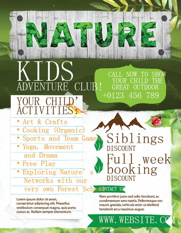 Kids Club flyer Abenteuer