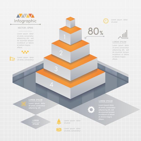 、ビジネス、インフォ グラフィック、はしご