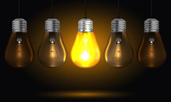 、ビジネス、アイデア、ランプ