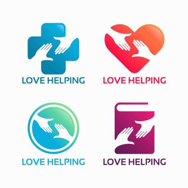 、支援、ロゴ、愛