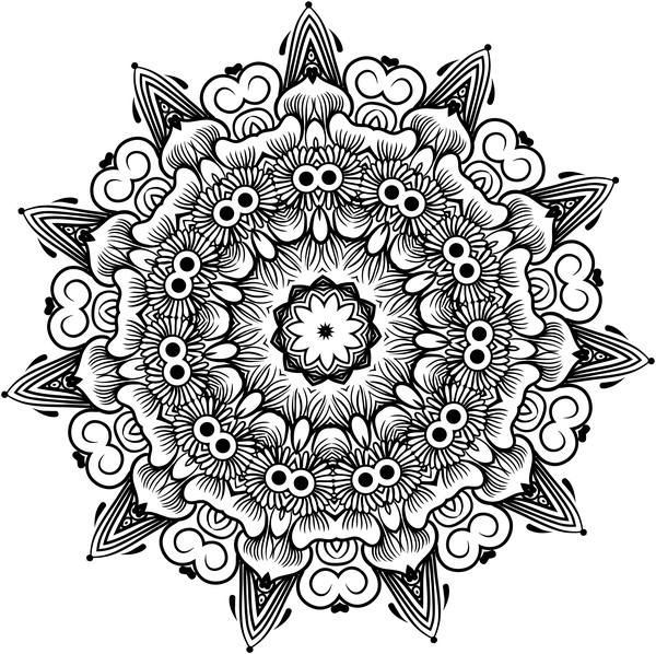 ornamento Mandala lineart