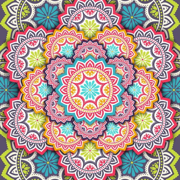 Muster Mandala Dekor Betende