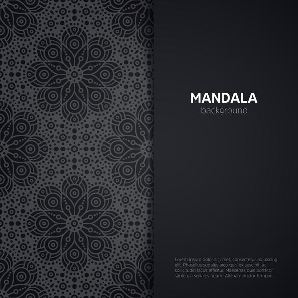 Schwarz Muster Mandala