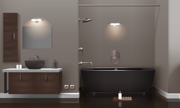 realistico moderni interni bagno