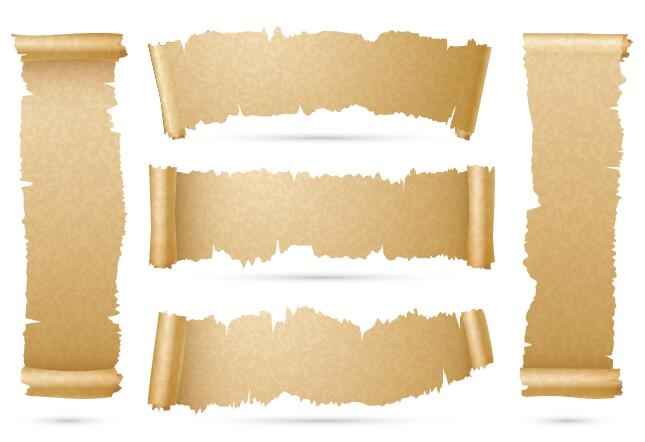 scrolls parchment banner