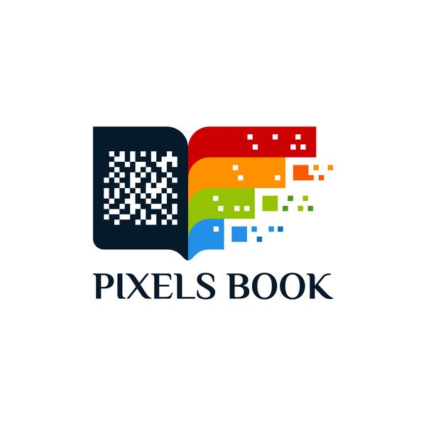 、本、ロゴ、ピクセル