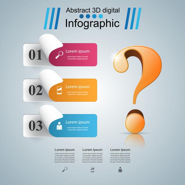 質問 紙 インフォグラフィック 3