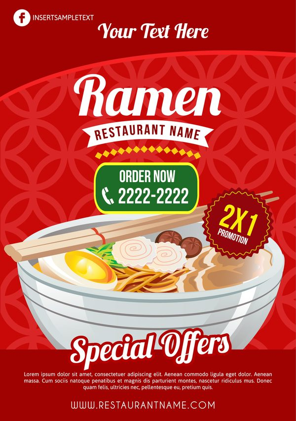 restaurant Ramen Affiche