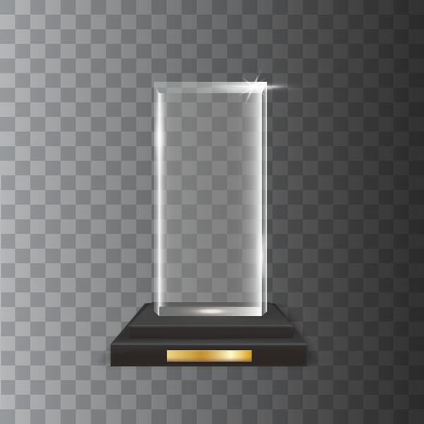 verre trophée rectangle award acrylique