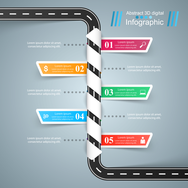 route infographie Couleur