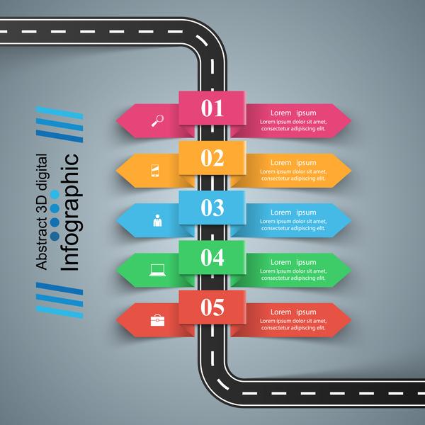 road infographic Färg