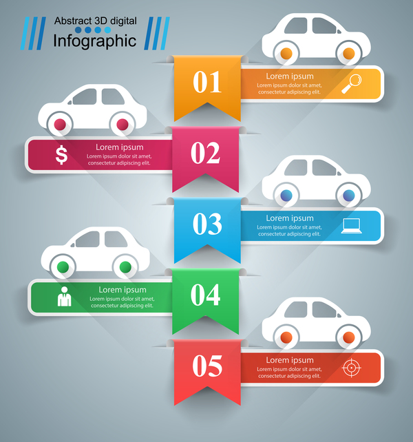 road infographic fem Bil