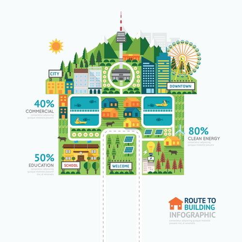 route infographie Entreprise