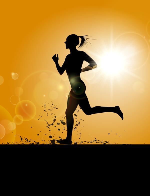 sagoma running girl